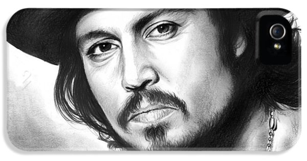 Johnny Depp IPhone 5 Case by Greg Joens