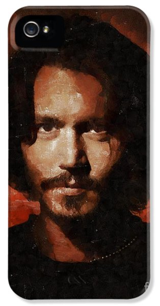 Johnny Depp, Hollywood Legend By Mary Bassett IPhone 5 Case by Mary Bassett