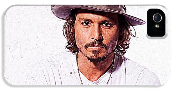 Johnny Depp IPhone 5 Case by Iguanna Espinosa