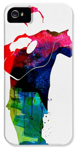 Johnny Cash iPhone 5 Case - Johnny Watercolor by Naxart Studio