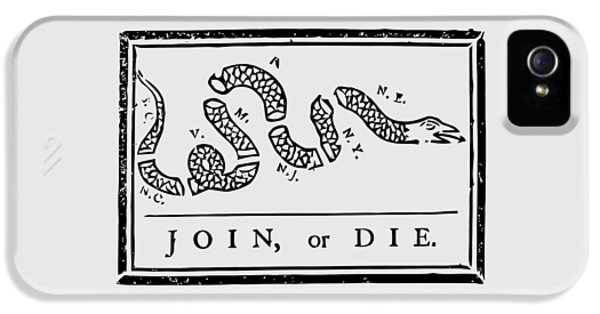 Snake iPhone 5 Case - Join Or Die by War Is Hell Store