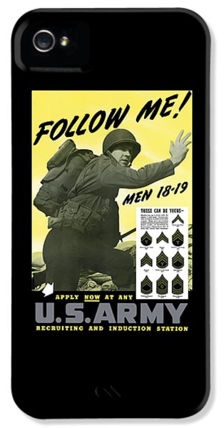 Join The Us Army  IPhone 5 Case by War Is Hell Store