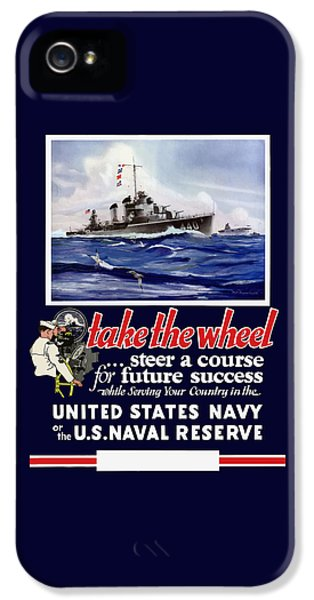 Join The Us Navy - Ww2 IPhone 5 Case by War Is Hell Store