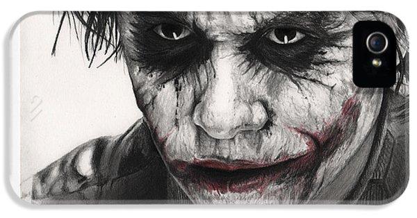 Joker Face IPhone 5 Case by James Holko