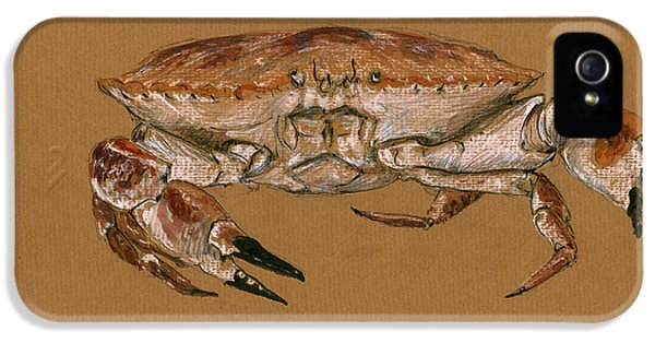 Jonah Crab IPhone 5 Case by Juan  Bosco