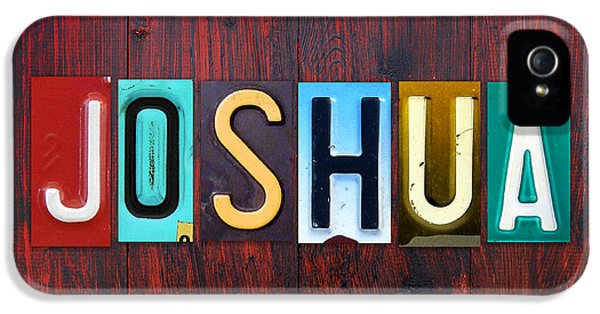 Joshua License Plate Lettering Name Sign Art IPhone 5 Case by Design Turnpike