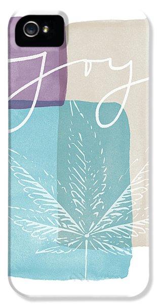 Joy Cannabis Leaf Watercolor- Art By Linda Woods IPhone 5 Case