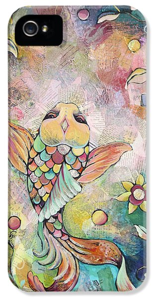 Koi iPhone 5 Case - Joyful Koi I by Shadia Derbyshire
