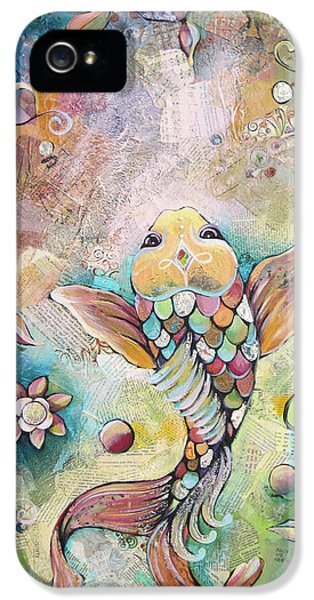 Koi iPhone 5 Case - Joyful Koi II by Shadia Derbyshire