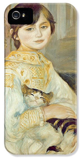 Julie Manet With Cat IPhone 5 Case