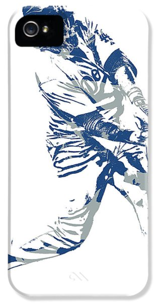 Los Angeles Dodgers iPhone 5 Case - Justin Turner Los Angeles Dodgers Pixel Art 10 by Joe Hamilton