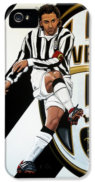 Juventus Fc Turin Painting IPhone 5 Case by Paul Meijering