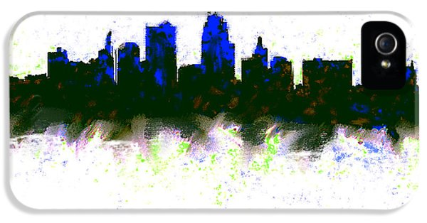 Kansas City Skyline Blue  IPhone 5 Case