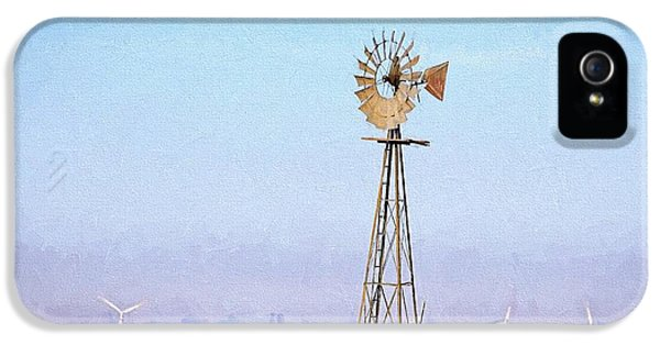 IPhone 5 Case featuring the digital art Kansas Windmills by JC Findley