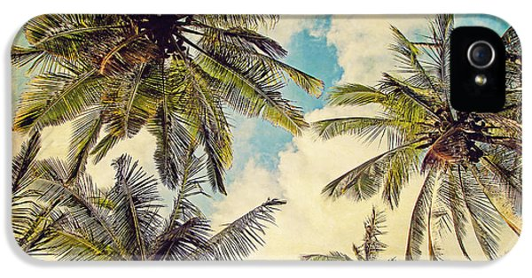 Kauai Island Palms - Blue Hawaii Photography IPhone 5 Case by Melanie Alexandra Price