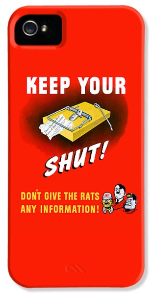 Mice iPhone 5 Case - Keep Your Trap Shut -- Ww2 Propaganda by War Is Hell Store