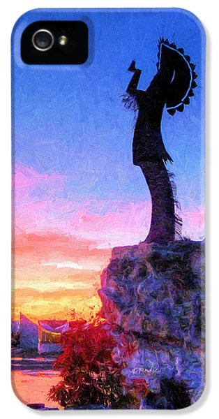 Keeper Of The Plains IPhone 5 Case by JC Findley