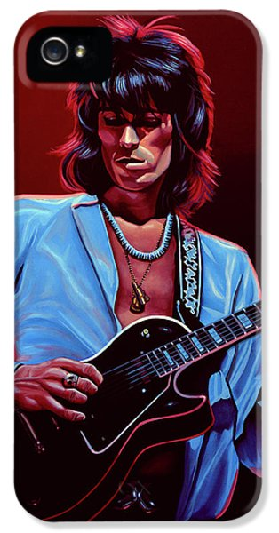 Rolling Stone Magazine iPhone 5 Case - Keith Richards The Riffmaster by Paul Meijering