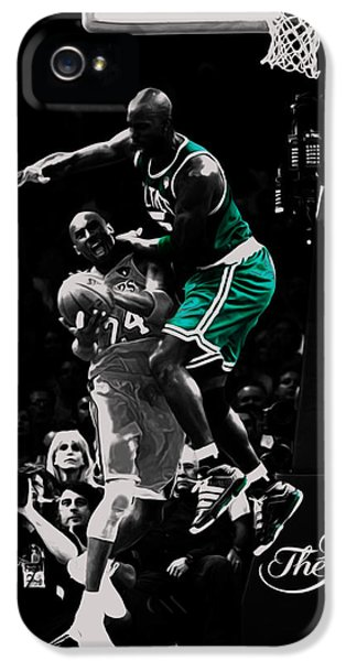 Kevin Garnett Not In Here IPhone 5 Case by Brian Reaves