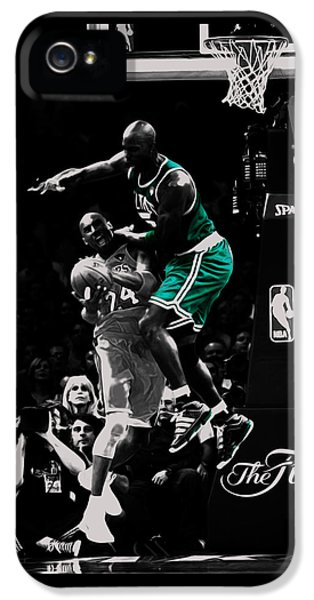 Magic Johnson iPhone 5 Case - Kevin Garnett Not In Here by Brian Reaves