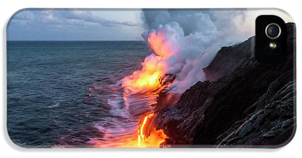 Pele iPhone 5 Case - Kilauea Volcano Lava Flow Sea Entry 3- The Big Island Hawaii by Brian Harig