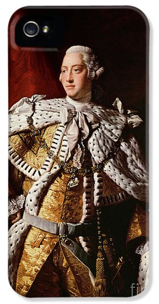 King George IIi IPhone 5 Case by Allan Ramsay
