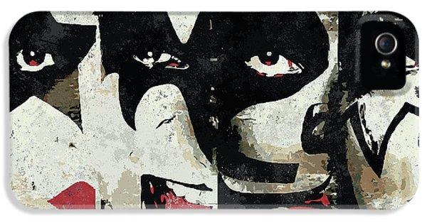Rock And Roll iPhone 5 Case - Kiss Art Print by Geek N Rock