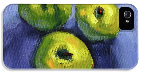 IPhone 5 Case featuring the painting Kitchen Pears Still Life by Nancy Merkle
