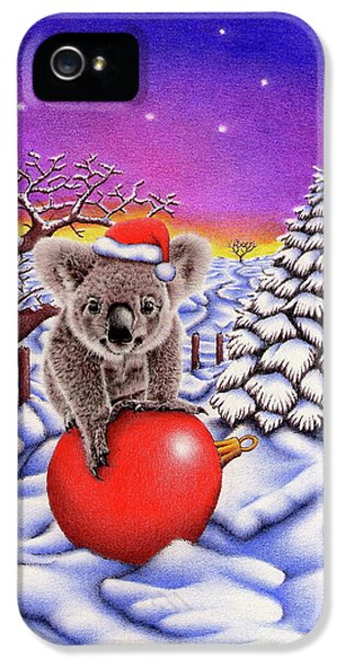 Koala On Christmas Ball IPhone 5 Case by Remrov