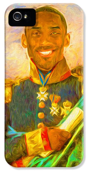 Kobe Bryant Floor General Digital Painting La Lakers IPhone 5 / 5s Case by David Haskett