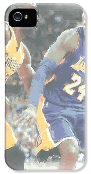 Kobe Bryant Lebron James 2 IPhone 5 / 5s Case by Joe Hamilton