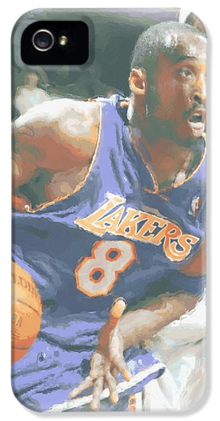 Kobe Bryant Lebron James IPhone 5 / 5s Case by Joe Hamilton