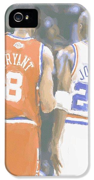 Kobe Bryant Michael Jordan 2 IPhone 5 Case by Joe Hamilton