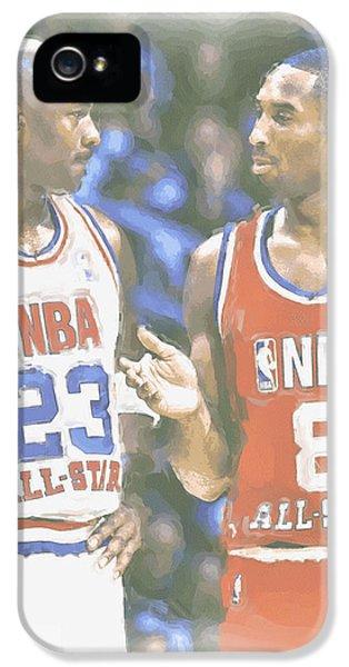 Kobe Bryant Michael Jordan IPhone 5 Case by Joe Hamilton
