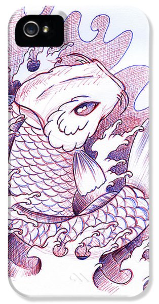 Koi iPhone 5 Case - Koi Carp Tattoo Art by Samuel Whitton