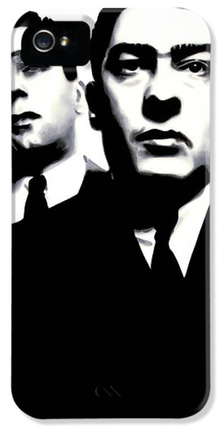 Kray Twins IPhone 5 Case by Luis Ludzska