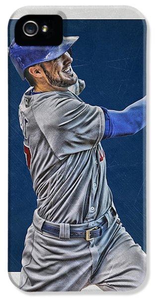 Kris Bryant Chicago Cubs Art 3 IPhone 5 Case by Joe Hamilton
