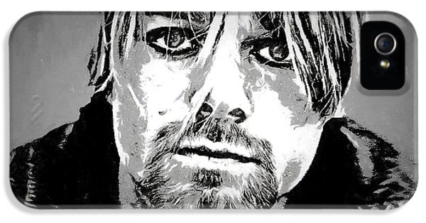 Kurt Cobain Charcoal IPhone 5 Case by Dan Sproul
