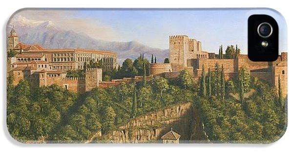 La Alhambra Granada Spain IPhone 5 Case by Richard Harpum