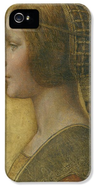 Dress iPhone 5 Cases - La Bella Principessa - 15th Century iPhone 5 Case by Leonardo da Vinci