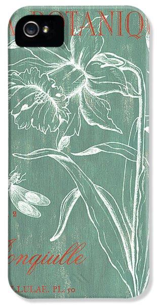 Dragon iPhone 5 Case - La Botanique Aqua by Debbie DeWitt
