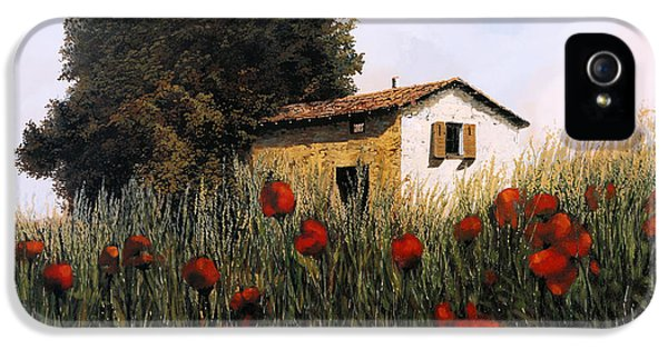 La Casetta In Mezzo Ai Papaveri IPhone 5 Case by Guido Borelli