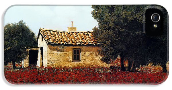 La Masseria Tra I Papaveri IPhone 5 Case by Guido Borelli
