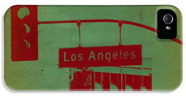 Beach Sunset iPhone 5 Case - La Street Ligh by Naxart Studio