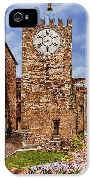 La Torre Del Carmine-montecatini Terme-tuscany IPhone 5 Case by Guido Borelli