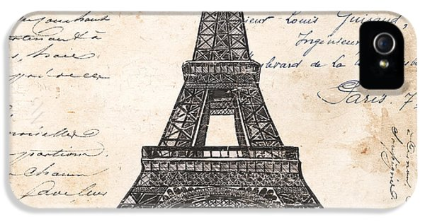La Tour Eiffel IPhone 5 Case by Debbie DeWitt