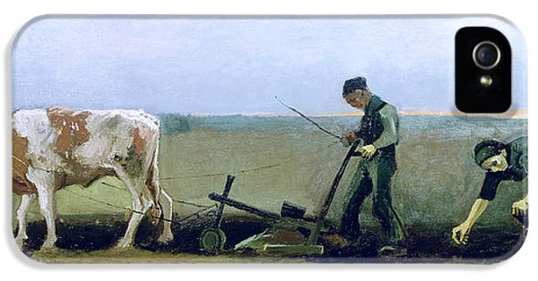 Labourer And Peasant  IPhone 5 Case by Vincent van Gogh