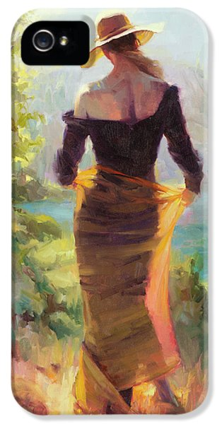 Impressionism iPhone 5 Case - Lady Of The Lake by Steve Henderson
