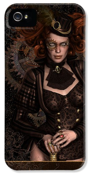 Lady Steampunk IPhone 5 Case by Shanina Conway