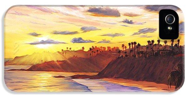 Beach Sunset iPhone 5 Case - Laguna Village Sunset by Steve Simon